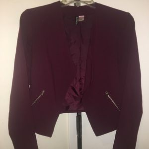 Business casual cropped blazer